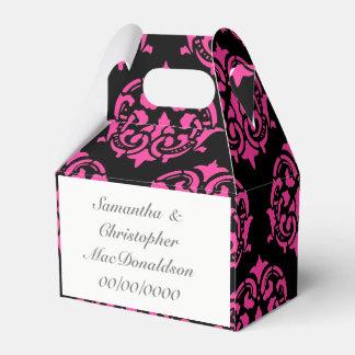 Caixinha De Lembrancinhas casamento cor-de-rosa e preto da cor damasco