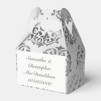 Caixinha De Lembrancinhas Casamento da cor damasco do cinza de prata