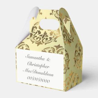 Caixinha De Lembrancinhas Casamento dourado da cor damasco do ouro