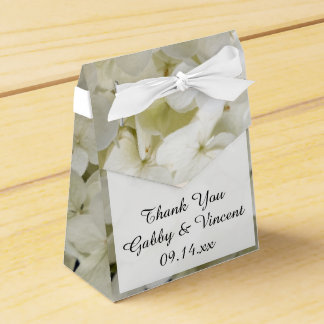 Caixinha De Lembrancinhas Casamento floral do Hydrangea branco