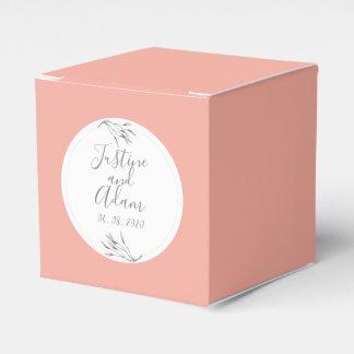 Caixinha De Lembrancinhas Casamento Glam personalizado da folha do louro
