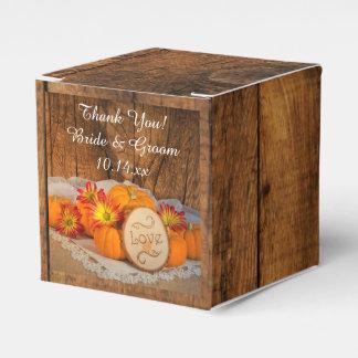 Caixinha De Lembrancinhas Casamento outono rústico de madeira das abóboras