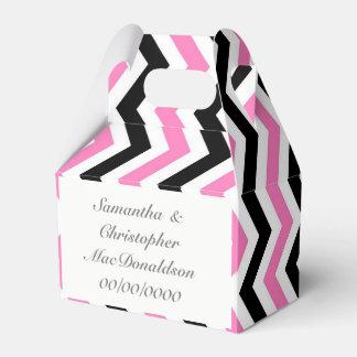 Caixinha De Lembrancinhas Casamento preto e branco cor-de-rosa da viga
