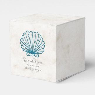 Caixinha De Lembrancinhas Casamento rústico do Seashell dos azuis marinhos