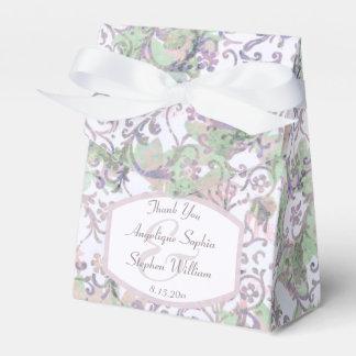 Caixinha De Lembrancinhas Casamento tema damasco floral da lavanda