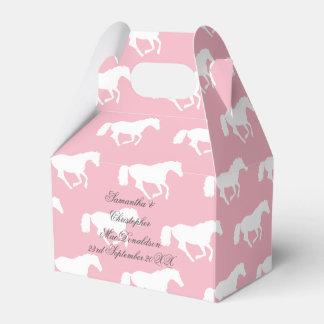 Caixinha De Lembrancinhas Casamento temático equestre cor-de-rosa do cavalo