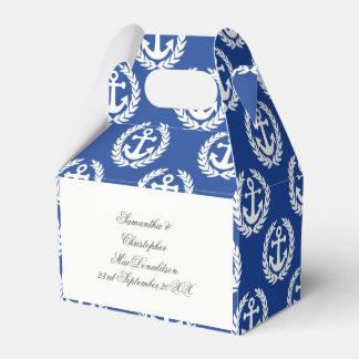 Caixinha De Lembrancinhas Casamento temático náutico da âncora azul