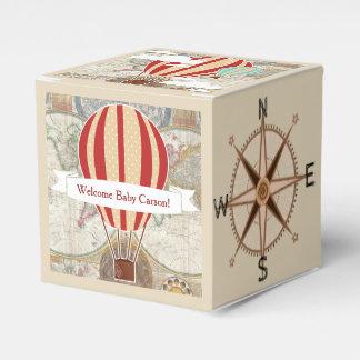 Caixinha De Lembrancinhas Chá de fraldas do mapa do mundo dos balões de ar