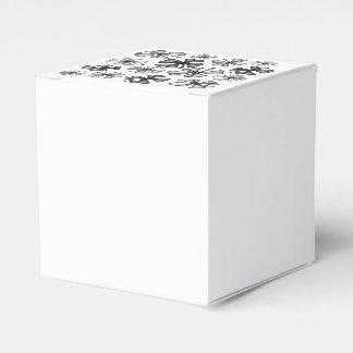 Caixinha De Lembrancinhas Cinza afortunado do trevo do trevo