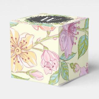 Caixinha De Lembrancinhas Delicado doce flores coloridas do primavera com