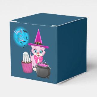 Caixinha De Lembrancinhas Desenhos animados cor-de-rosa do Dia das Bruxas do