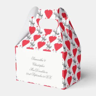 Caixinha De Lembrancinhas Elefante e casamento vermelho do coração