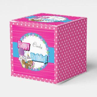 Caixinha De Lembrancinhas Esquilo do feliz aniversario - rosa