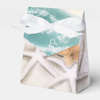 Caixinha De Lembrancinhas Estrela do mar na água do mar da cerceta da praia