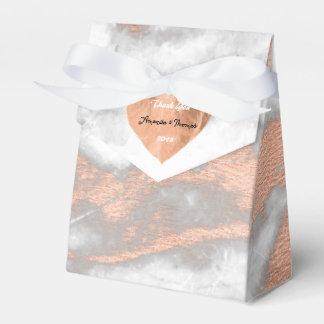 Caixinha De Lembrancinhas Favor do casamento do coração cor-de-rosa do cobre