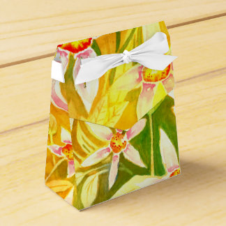 Caixinha De Lembrancinhas Favor floral/caixa de presente do Watercolour