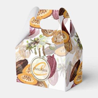 Caixinha De Lembrancinhas Feijões de cacau, flores do chocolate, os