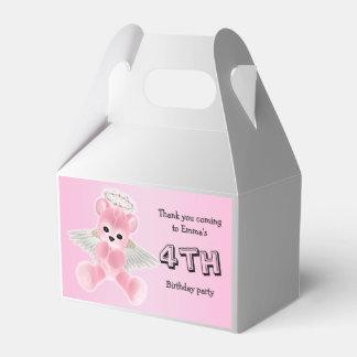 Caixinha De Lembrancinhas Festa de aniversário cor-de-rosa do urso de