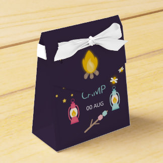 Caixinha De Lembrancinhas Festa de aniversário de Glamping da menina