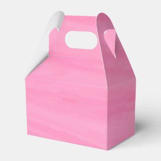 Caixinha De Lembrancinhas Festa de casamento cor-de-rosa da aguarela, favor