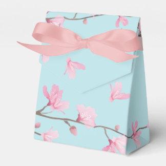 Caixinha De Lembrancinhas Flor de cerejeira - azul-céu
