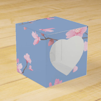 Caixinha De Lembrancinhas Flor de cerejeira - azul da serenidade