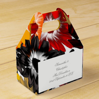 Caixinha De Lembrancinhas Flores alaranjadas coloridos coloridas que wedding