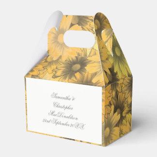 Caixinha De Lembrancinhas Flores amarelos alaranjado coloridas que wedding