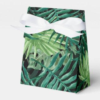 Caixinha De Lembrancinhas Grande palma de samambaia verde e plantas