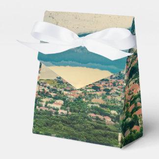 Caixinha De Lembrancinhas Ideia aérea do subúrbio de Guayaquil do plano