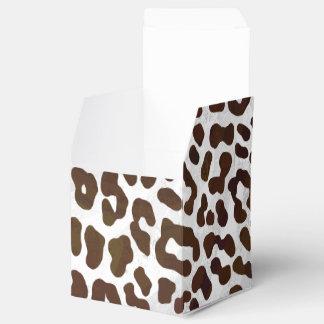 Caixinha De Lembrancinhas Impressão do chocolate do leopardo