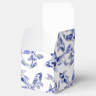 Caixinha De Lembrancinhas Koi azul e branco