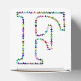 Caixinha De Lembrancinhas Letra F da estrela do arco-íris