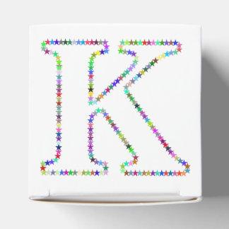 Caixinha De Lembrancinhas Letra K da estrela do arco-íris
