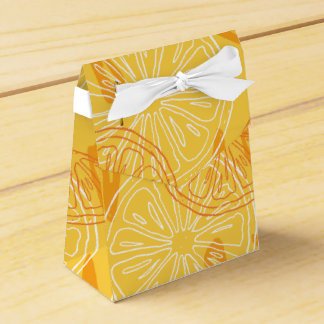 Caixinha De Lembrancinhas Limões amarelos brilhantes teste padrão tirado do