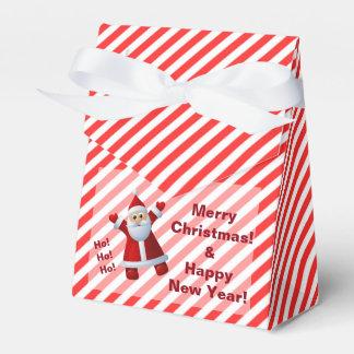 Caixinha De Lembrancinhas Listras bonitos do Feliz Natal de Papai Noel Ho Ho