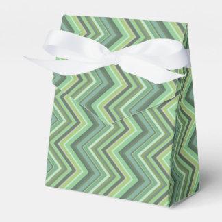 Caixinha De Lembrancinhas Listras do ziguezague da verde azeitona