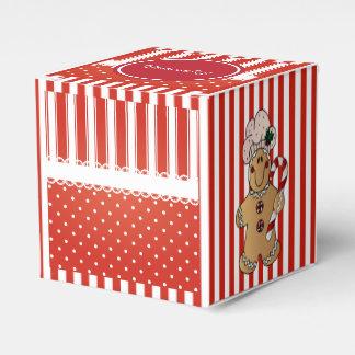 Caixinha De Lembrancinhas Listras vermelhas & brancas dos doces com homem de
