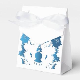 Caixinha De Lembrancinhas Lobo do azul de gelo da ilustração