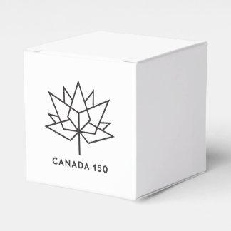 Caixinha De Lembrancinhas Logotipo do oficial de Canadá 150 - esboço preto