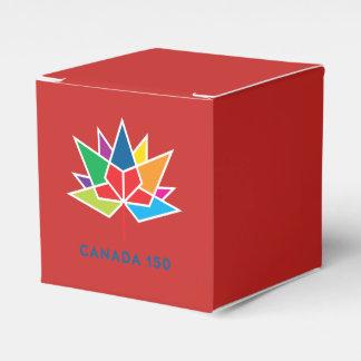 Caixinha De Lembrancinhas Logotipo do oficial de Canadá 150 - multicolorido