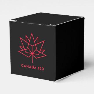 Caixinha De Lembrancinhas Logotipo do oficial de Canadá 150 - preto e