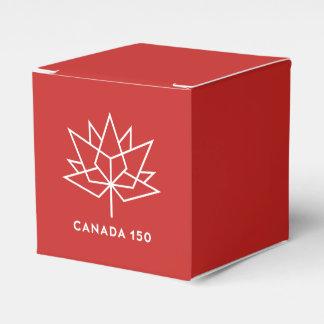Caixinha De Lembrancinhas Logotipo do oficial de Canadá 150 - vermelho e