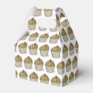 Caixinha De Lembrancinhas Mini teste padrão bonito dos muffin