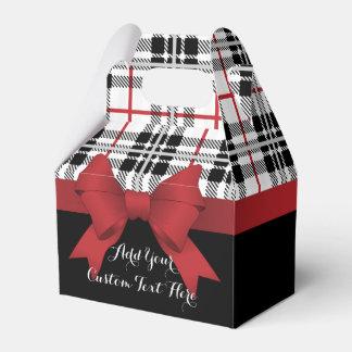 Caixinha De Lembrancinhas Moderno bonito preto vermelho do teste padrão e da