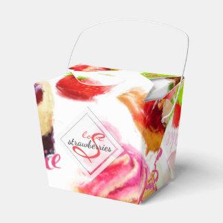 Caixinha De Lembrancinhas Monograma do amor dos doces da morango da aguarela
