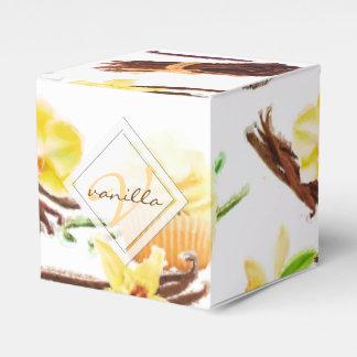 Caixinha De Lembrancinhas Monograma doce da orquídea de baunilha da aguarela