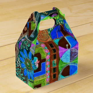 Caixinha De Lembrancinhas Mosaico corajoso & colorido das formas
