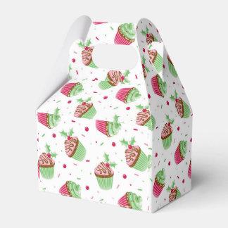 Caixinha De Lembrancinhas Natal bonito e doce cupcakes coloridos