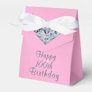 Caixinha De Lembrancinhas O 100th favor de festa de aniversário feliz